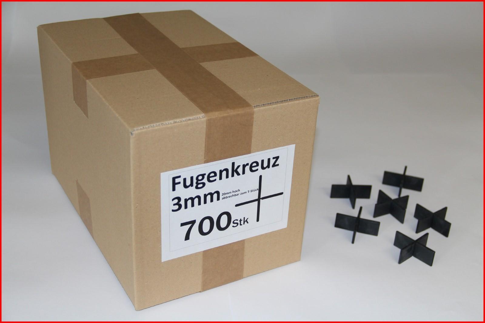 300 St/ück im Karton Fugenkreuze 3mm Bauh/öhe 20mm